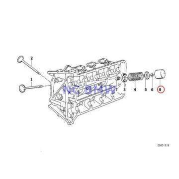 2 X BMW Genuine Motorcycle Timing Gear Cam Follower 2.70MM 89V1 89V2 89V3 K41