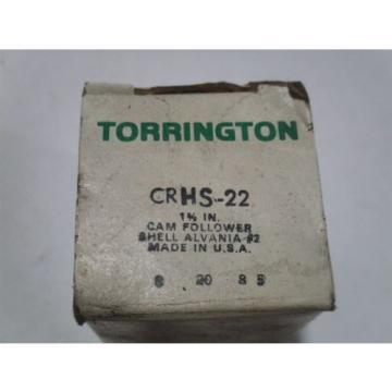 """New Torrington Fafnir Cam Follower 1-3/8"""" CRHS-22"""