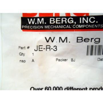 """New W.M. Berg SS Roller Bearing Cam Follower, 0.3438"""" Diameter, JE-R-3"""