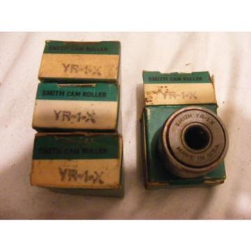 Lot of 4 SMITH BEARING Cam Follower, Yoke Type, Sealed YR-1-X