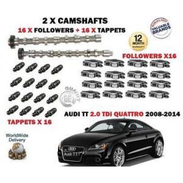 FO AUDI TT 2.0 TDi 2008-> NEW 2X CAMSHAFT CAM SET + 16 X FOLLOWER + 16X TAPPETS