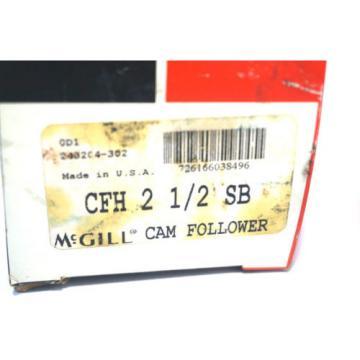 NEW MCGILL CFH-2-1/2-SB CAM FOLLOWER  CFH212SB