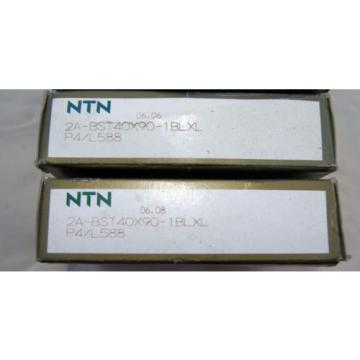 New NTN 2A-BST40X90-1BLXL P4/L588 Super Precision Angular Contact Bearing