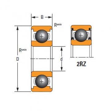 Timken Thin Section61807-2RZ-C3