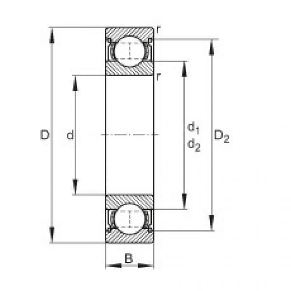 Deep groove ball bearings - 61800-2Z #1 image