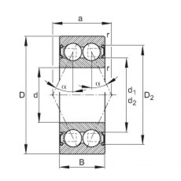 Angular contact ball bearings - 3814-B-2RS-TVH #1 image
