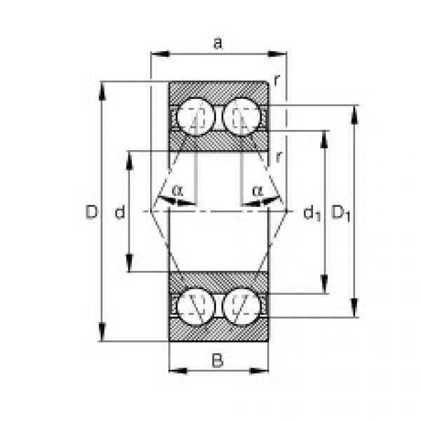 Angular contact ball bearings - 3816-B-TVH #1 image
