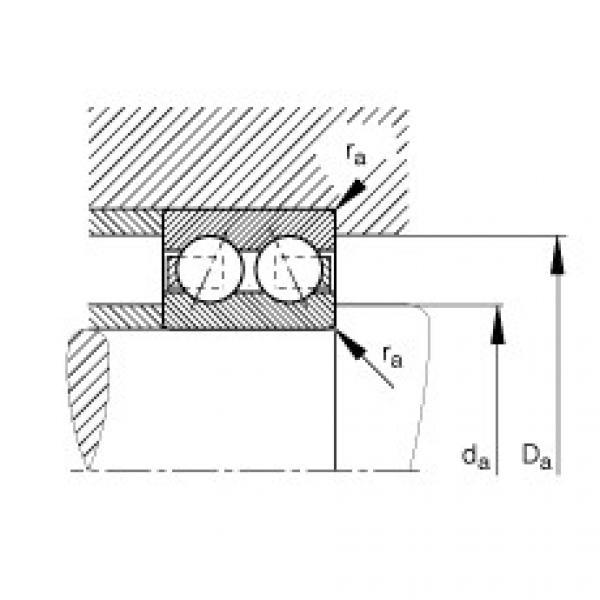Angular contact ball bearings - 3816-B-TVH #2 image