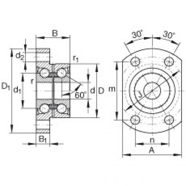 Angular contact ball bearing units - ZKLFA1050-2Z #1 image