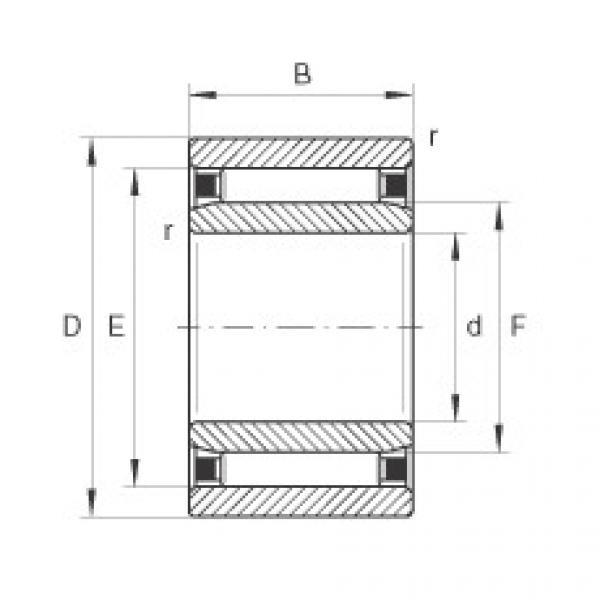 Needle roller bearings - NAO90X120X30-XL #1 image