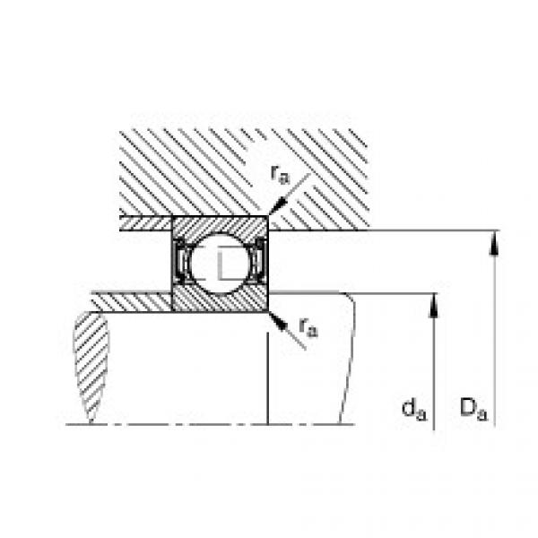 Deep groove ball bearings - 62205-2RSR #2 image