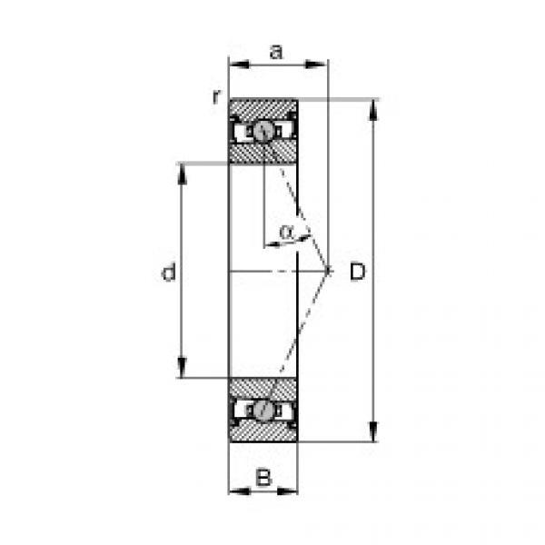 Spindle bearings - HCS7012-E-T-P4S #1 image