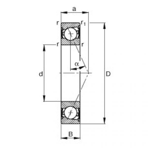 Spindle bearings - B7012-E-2RSD-T-P4S #1 image