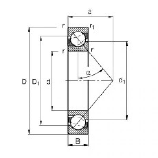 Angular contact ball bearings - 71814-B-TVH #1 image