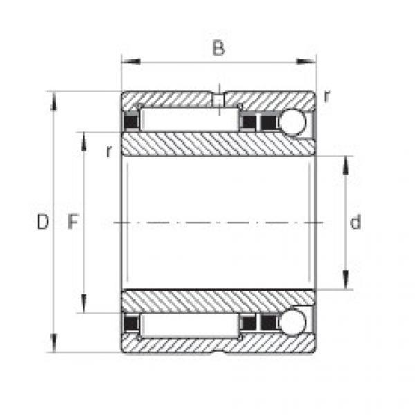 Needle roller/angular contact ball bearings - NKIA5912-XL #1 image