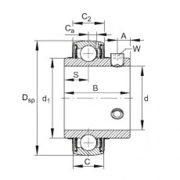 Radial insert ball bearings - UC202 #1 image