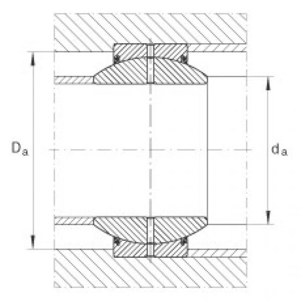 Radial spherical plain bearings - GE100-FO-2RS #2 image