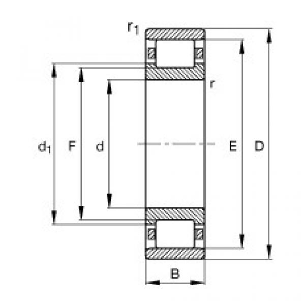 Cylindrical roller bearings - N210-E-XL-TVP2 #1 image