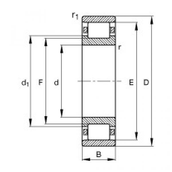 Cylindrical roller bearings - N315-E-XL-TVP2 #1 image