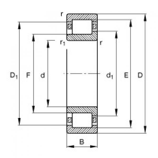 Cylindrical roller bearings - NJ320-E-XL-TVP2 #1 image