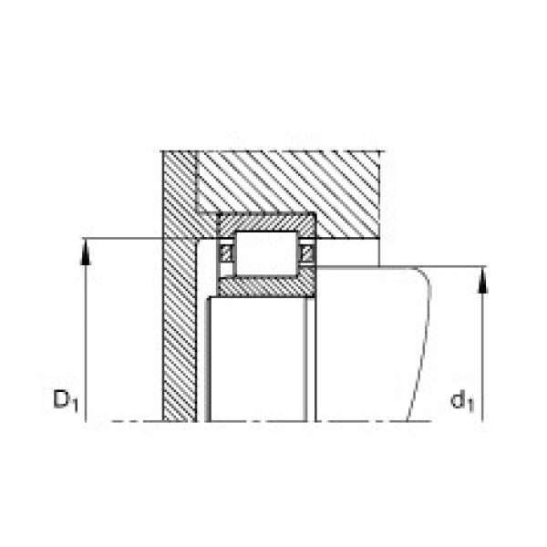Cylindrical roller bearings - NJ320-E-XL-TVP2 #3 image