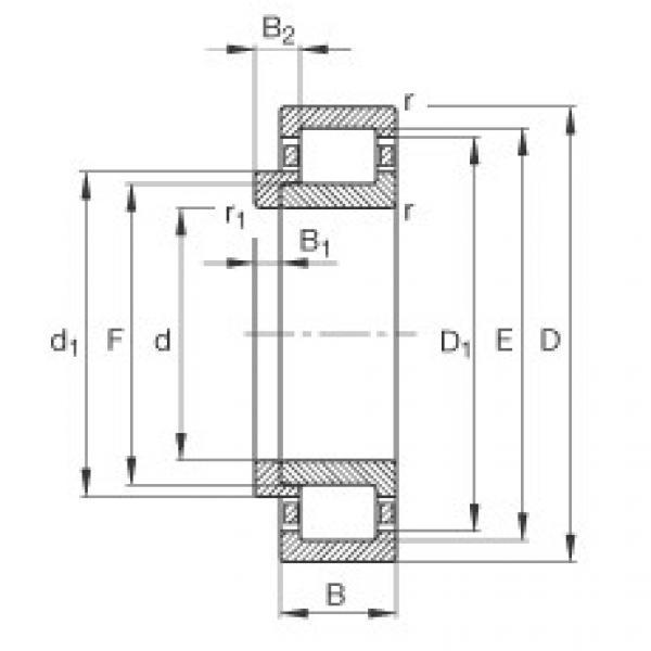 Cylindrical roller bearings - NJ216-E-XL-TVP2 + HJ216-E #1 image