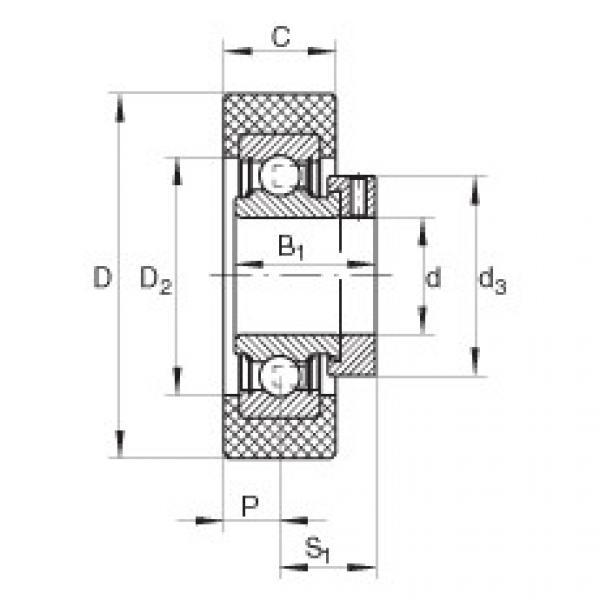 Radial insert ball bearings - RCSMB20/65-XL-FA106 #1 image