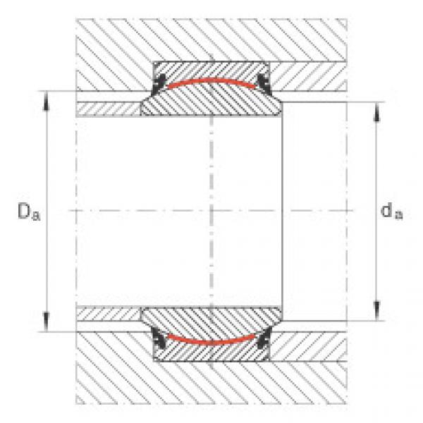 Radial spherical plain bearings - GE25-UK-2RS #2 image