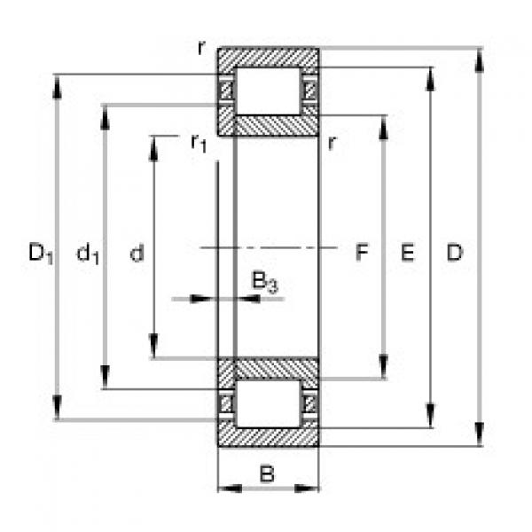 Cylindrical roller bearings - NUP2219-E-XL-TVP2 #1 image