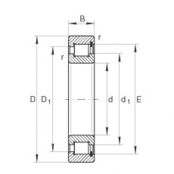 Cylindrical roller bearings - SL181876-E #1 image