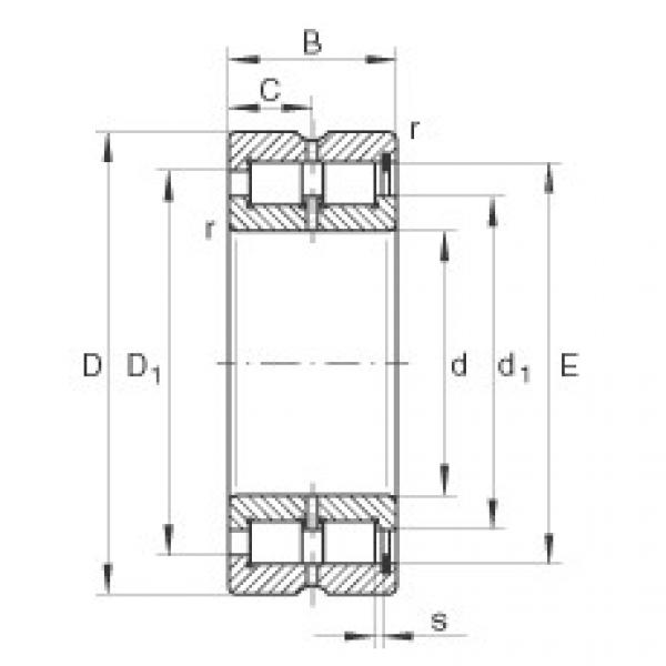 Cylindrical roller bearings - SL185072-TB #1 image
