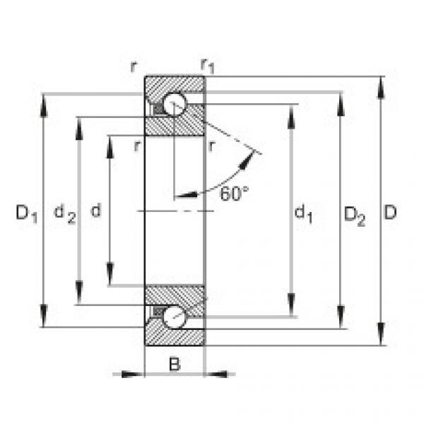 Axial angular contact ball bearings - BSB2562-SU #1 image