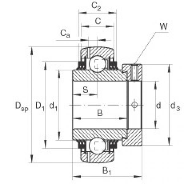 Radial insert ball bearings - GE60-XL-KTT-B #1 image