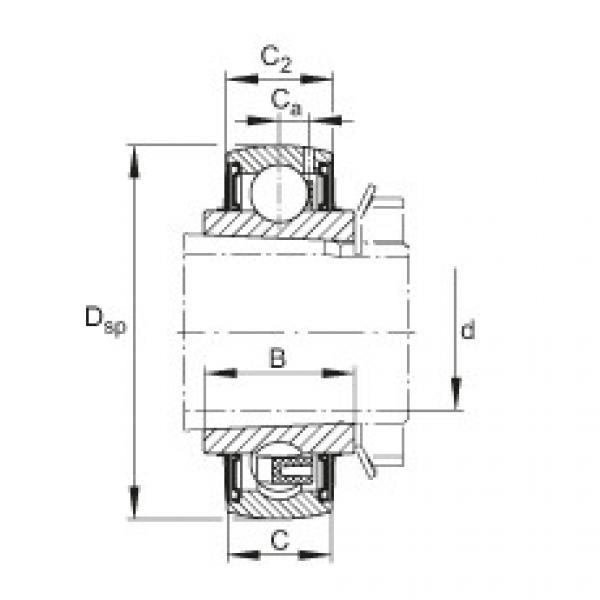 Radial insert ball bearings - UK213 #1 image