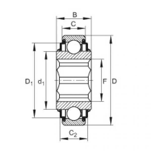 Self-aligning deep groove ball bearings - SK100-206-KRR-AH11 #1 image