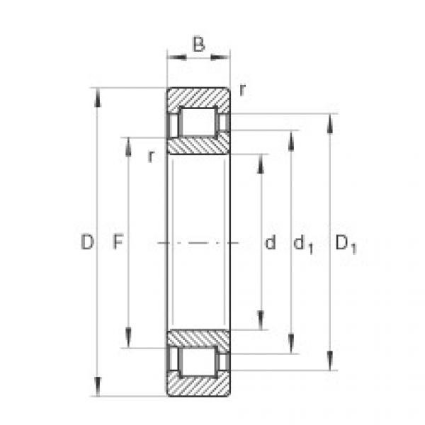 Cylindrical roller bearings - SL192312-XL #1 image
