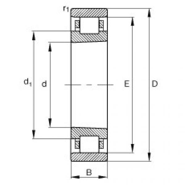 Cylindrical roller bearings - N1048-K-M1-SP #1 image