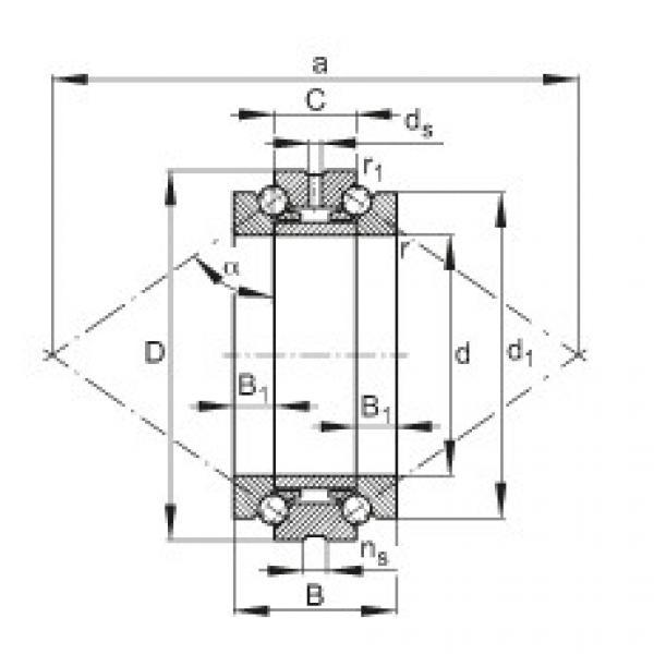Axial angular contact ball bearings - 234456-M-SP #1 image