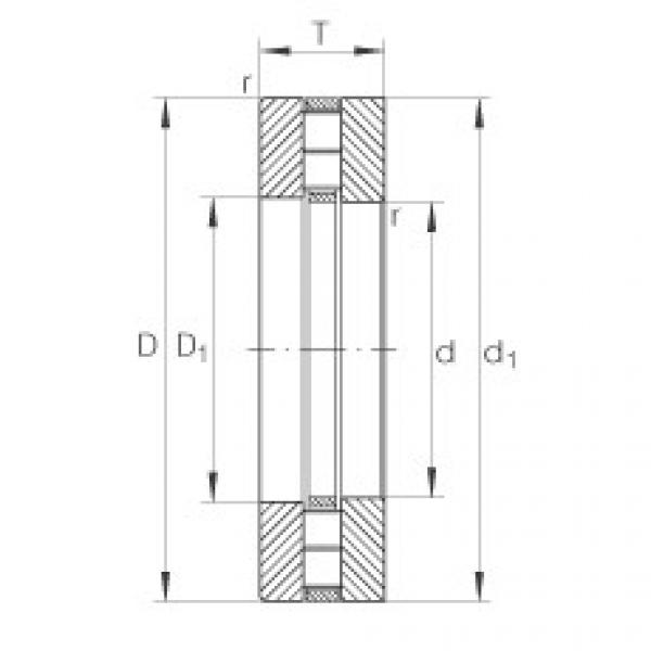 Axial cylindrical roller bearings - 89315-TV #1 image