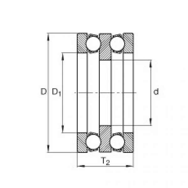 Axial deep groove ball bearings - 195X03 #1 image