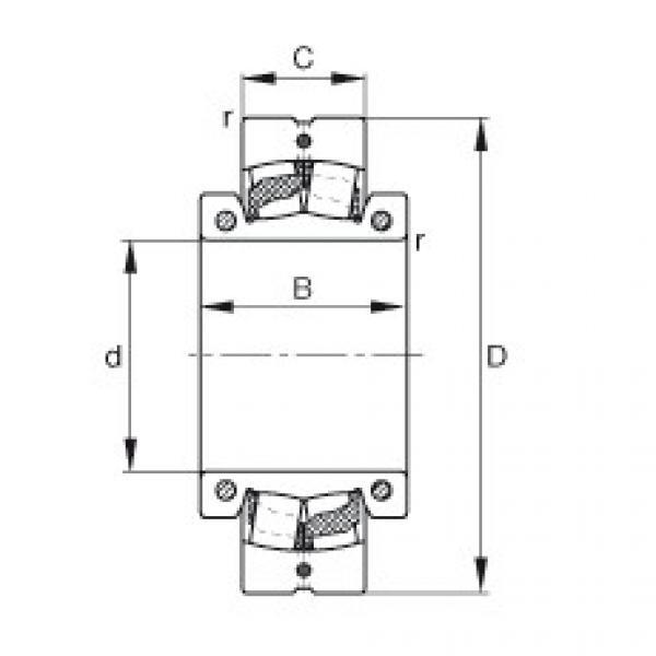 Spherical roller bearings - 222SM90-TVPA #1 image