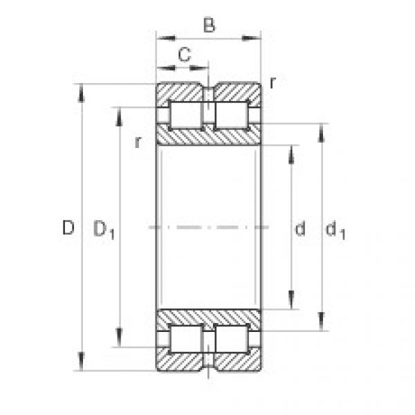 Cylindrical roller bearings - SL014956 #1 image