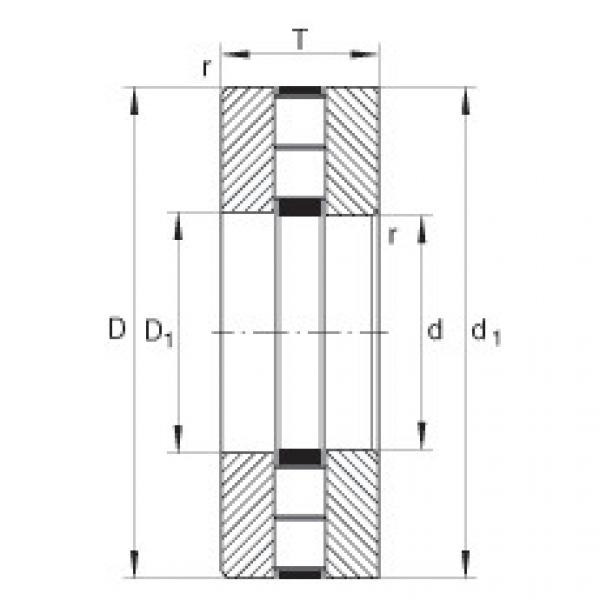 Axial cylindrical roller bearings - 89418-M #1 image