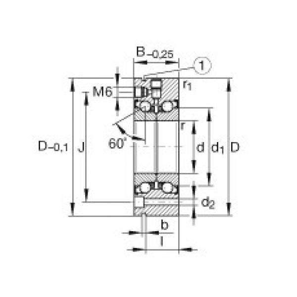 Axial angular contact ball bearings - ZKLF90190-2Z-XL #1 image
