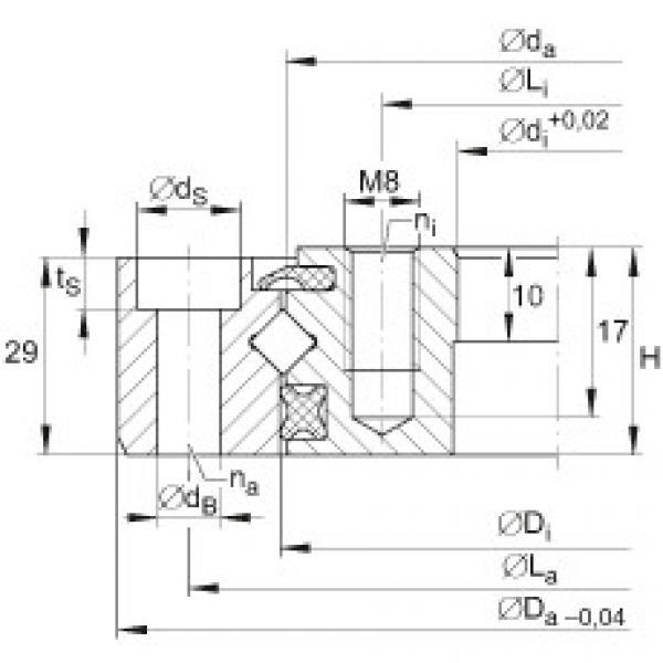 Crossed roller bearings - XU080120 #1 image