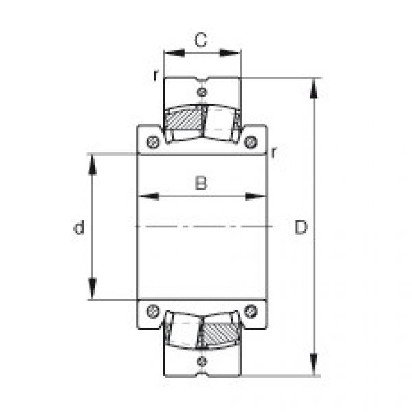 Spherical roller bearings - 222SM340-MA #1 image