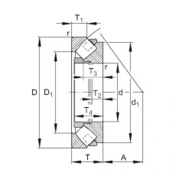 Axial spherical roller bearings - 293/850-E1-MB #1 image