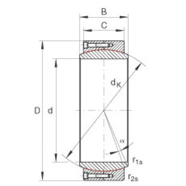 Large radial spherical plain bearings - GE480-DW #1 image
