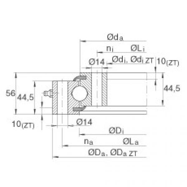 Four point contact bearings - VSU200544 #1 image