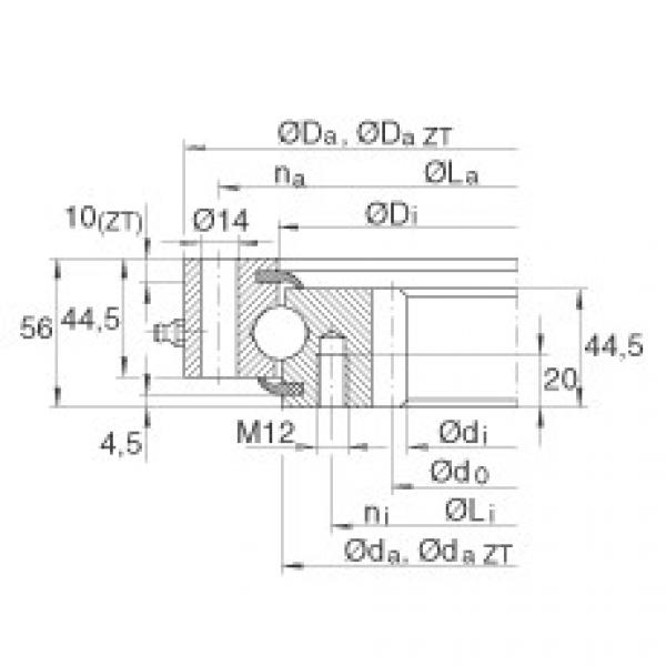 Four point contact bearings - VSI200744-N #1 image